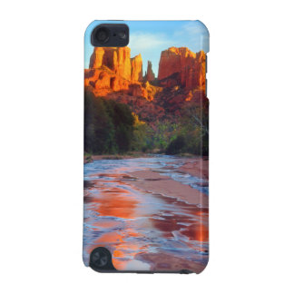 Cathedral Rock reflecting in Oak Creek at Sunset iPod Touch (5th Generation) Case