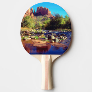 Cathedral Rock reflecting in Oak Creek Ping Pong Paddle