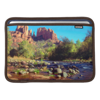Cathedral Rock reflecting in Oak Creek Sleeve For MacBook Air