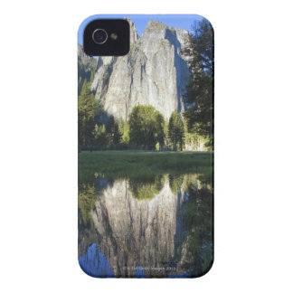 Cathedral Rocks are reflected in a pool of water iPhone 4 Covers