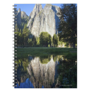 Cathedral Rocks are reflected in a pool of water Notebooks