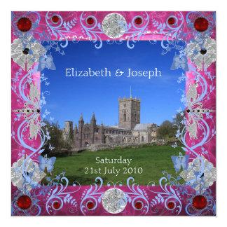 Cathedral Rubies Art Deco evening reception Invita 13 Cm X 13 Cm Square Invitation Card