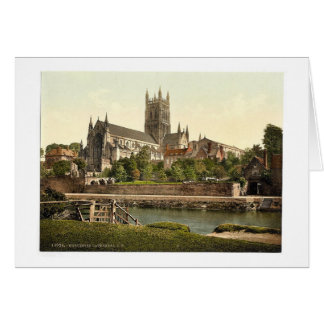 Cathedral, S. W., Worcester, England rare Photochr Card