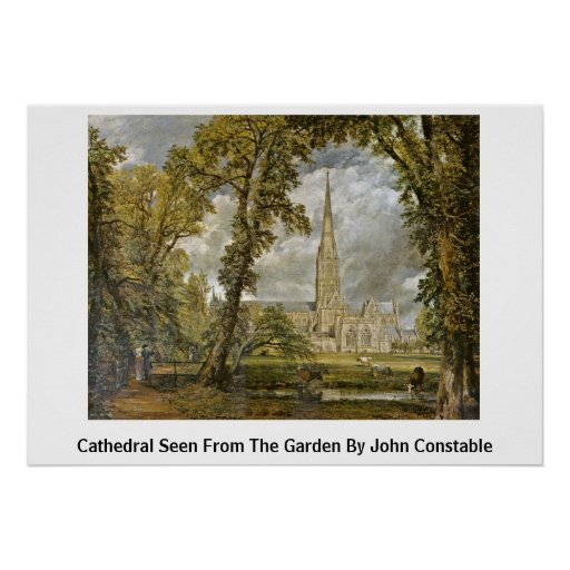 Cathedral Seen From The Garden By John Constable