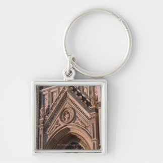 Cathedral Silver-Colored Square Key Ring