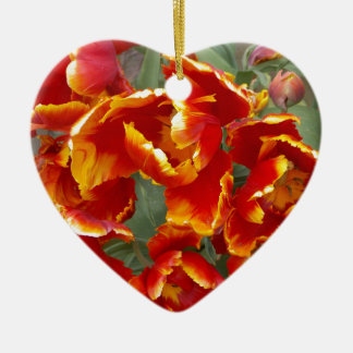 Cathedral Tulips Ceramic Heart Decoration