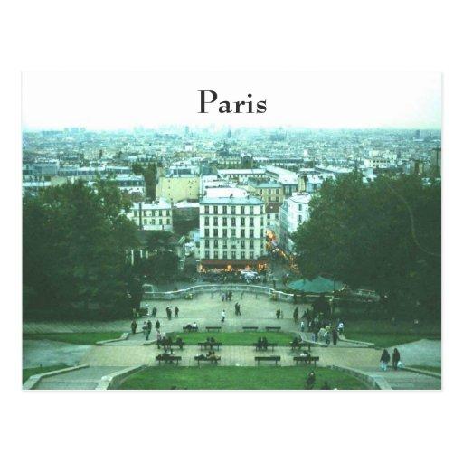 Cathedral View Sacre Coeur Paris Postcard