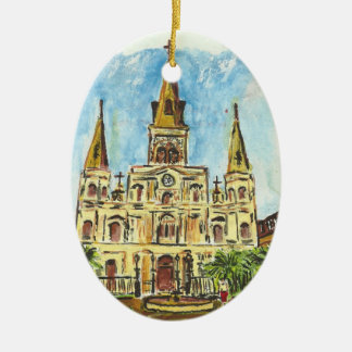 Cathedral Watercolor Christmas Ornament