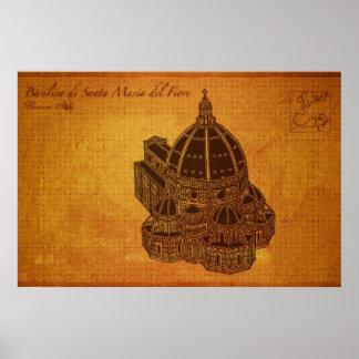 Cathedrals: Basilica di Santa Maria del Fiore Poster