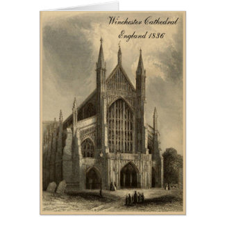 Cathedrals of England Series: Winchester 1836 Card
