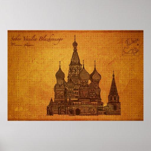 Cathedrals: Sobor Vasilia Blazhennogo, Moscow Poster