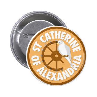 Catherine of Alexandria 6 Cm Round Badge