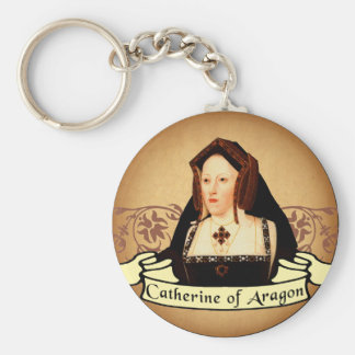Catherine of Aragon Classic Basic Round Button Key Ring