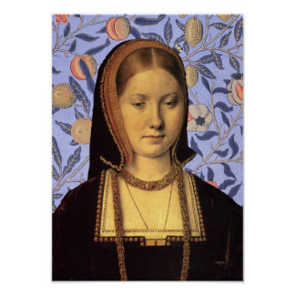 Catherine of Aragon Queen of  England Portrait Poster