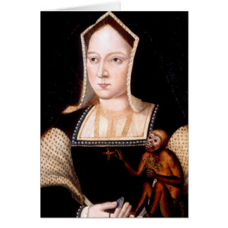 Catherine of Aragon with Monkey Greeting Card