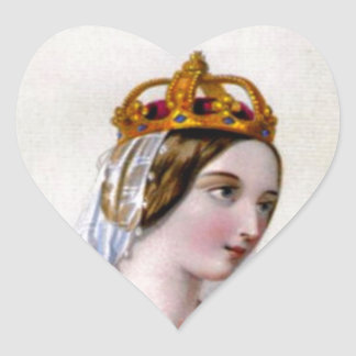 Catherine of Valois, Queen of England Heart Sticker