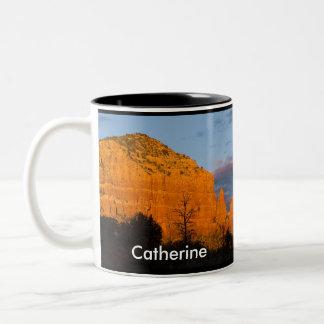 Catherine on Moonrise Glowing Red Rock Mug