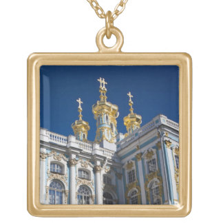 Catherine Palace Chapel detail Gold Plated Necklace