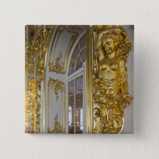 Catherine Palace, detail of the Great Hall 2 15 Cm Square Badge