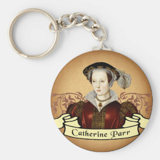 Catherine Parr Basic Round Button Key Ring