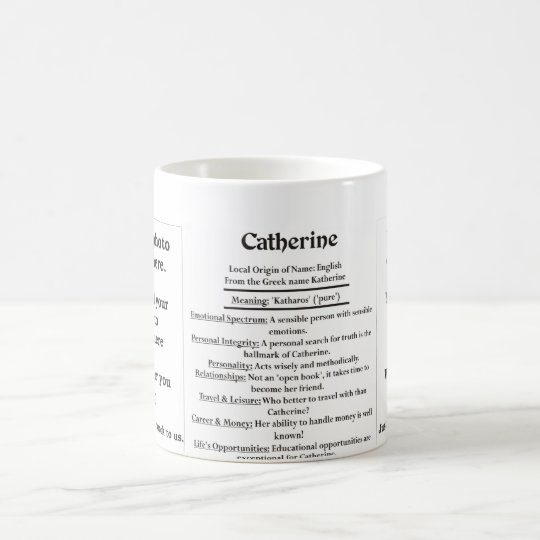 Catherine, the Origin and the Meaning Coffee Mug