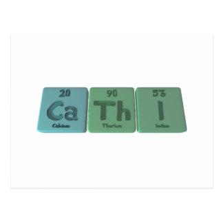 Cathi as Calcium Thorium Iodine Post Card