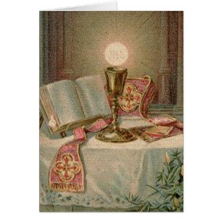 Catholic Altar Chalice Missal Eucharist Priest Card