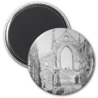 Catholic Cathedral Ruins During Civil War, 1865 6 Cm Round Magnet