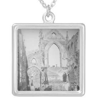 Catholic Cathedral Ruins During Civil War, 1865 Square Pendant Necklace