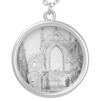 Catholic Cathedral Ruins During Civil War, 1865 Round Pendant Necklace