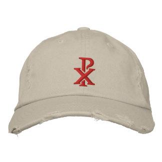 Catholic Chi Rho Embroidered Baseball Caps