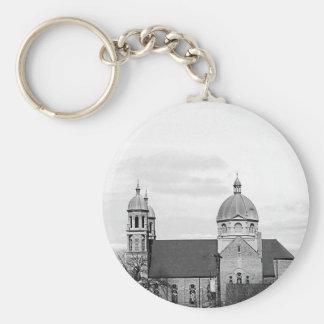 Catholic Church Black and White Photo Key Chains