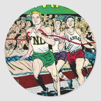 Catholic Comics Track Race Sticker