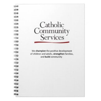 Catholic Community Services Spiral Notebook
