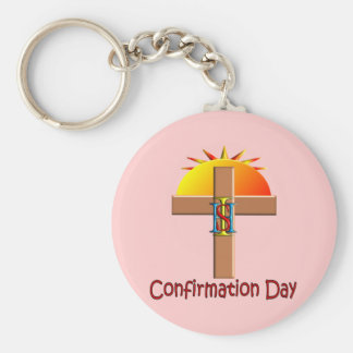 Catholic Confirmation Day for Kids Key Chains