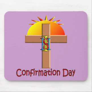 Catholic Confirmation Day for Kids Mouse Pads