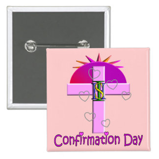 Catholic Confirmation Day Gifts for Kids Pinback Buttons