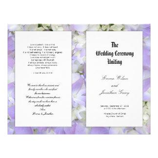 Catholic Lavender Floral Wedding Program Template 21.5 Cm X 28 Cm Flyer