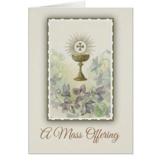 Catholic Mass Offering Memorial Card