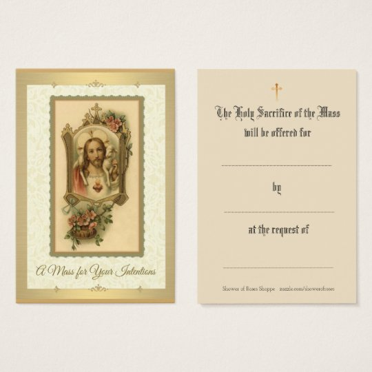 Catholic Mass Offering Prayer Holy Cards