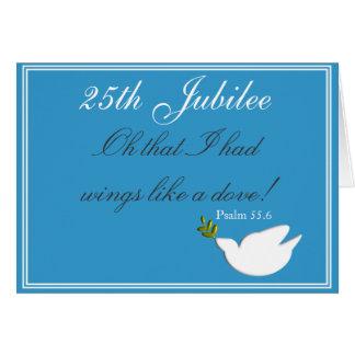 """Catholic Nun """"25th Jubilee"""" Card"""