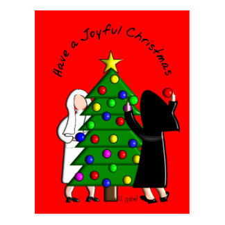 Catholic Nun Art Christmas Cards & Gifts Postcard