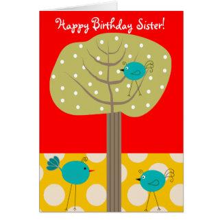 Catholic Nun Birthday Card Blue Birds
