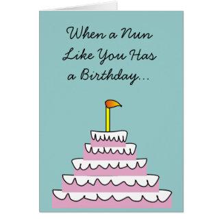 Catholic Nun Fun Birthday Card