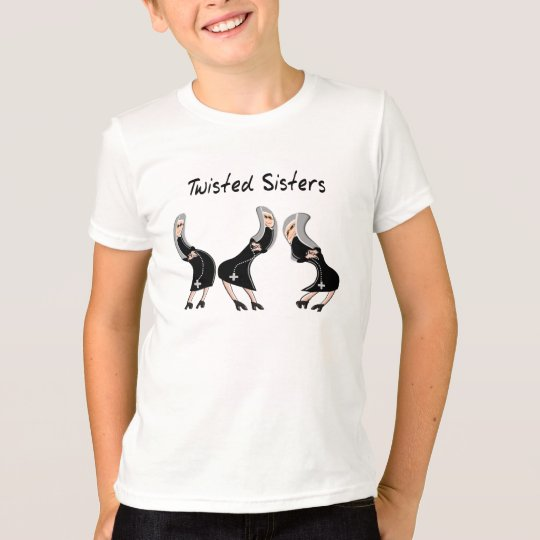 "Catholic Nun Gifts ""Twisted Sisters"" Design T-Shirt"