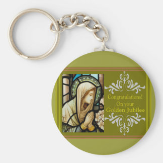 "Catholic Nun ""Golden Jubilee"" Cards & Gifts Key Ring"