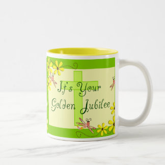 Catholic Nun Golden Jubilee Cards Two-Tone Coffee Mug