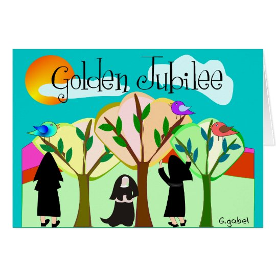 Catholic Nun Golden Jubilee Gifts Card