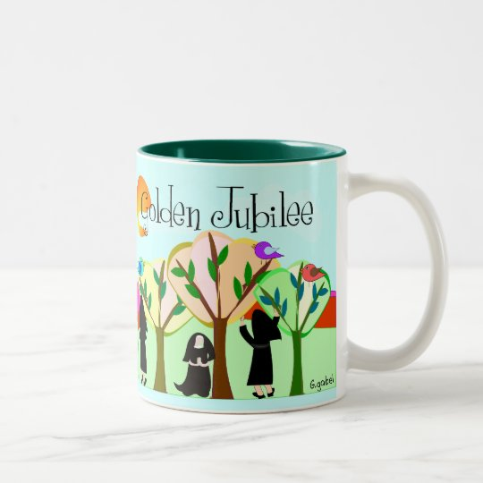Catholic Nun Golden Jubilee Gifts Two-Tone Coffee Mug