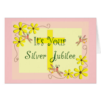 Catholic Nun Silver Jubilee Cards, Mugs, Tote Bags Card